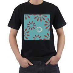 Fish Animals Star Brown Blue White Men s T-Shirt (Black)