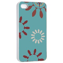 Fish Animals Star Brown Blue White Apple iPhone 4/4s Seamless Case (White)