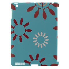 Fish Animals Star Brown Blue White Apple iPad 3/4 Hardshell Case (Compatible with Smart Cover)