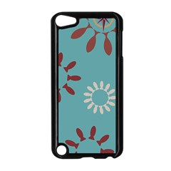 Fish Animals Star Brown Blue White Apple iPod Touch 5 Case (Black)