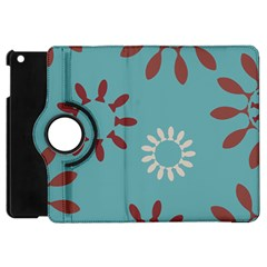 Fish Animals Star Brown Blue White Apple iPad Mini Flip 360 Case