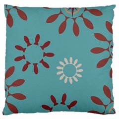 Fish Animals Star Brown Blue White Standard Flano Cushion Case (Two Sides)