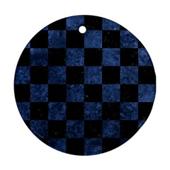 SQR1 BK-MRBL BL-STONE Ornament (Round)
