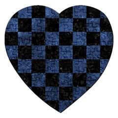 SQR1 BK-MRBL BL-STONE Jigsaw Puzzle (Heart)