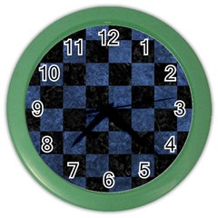 SQR1 BK-MRBL BL-STONE Color Wall Clocks