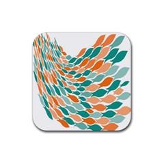 Fish Color Rainbow Orange Blue Animals Sea Beach Rubber Coaster (square)