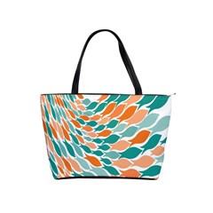 Fish Color Rainbow Orange Blue Animals Sea Beach Shoulder Handbags
