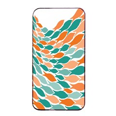 Fish Color Rainbow Orange Blue Animals Sea Beach Apple iPhone 4/4s Seamless Case (Black)
