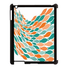 Fish Color Rainbow Orange Blue Animals Sea Beach Apple iPad 3/4 Case (Black)