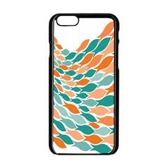 Fish Color Rainbow Orange Blue Animals Sea Beach Apple Iphone 6/6s Black Enamel Case
