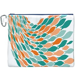 Fish Color Rainbow Orange Blue Animals Sea Beach Canvas Cosmetic Bag (XXXL)
