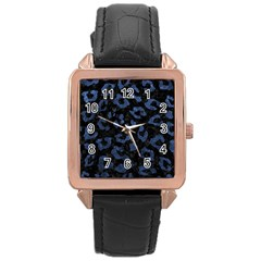 SKN5 BK-MRBL BL-STONE (R) Rose Gold Leather Watch