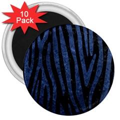 SKN4 BK-MRBL BL-STONE (R) 3  Magnets (10 pack)