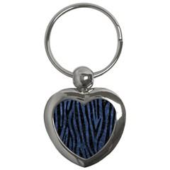 SKN4 BK-MRBL BL-STONE Key Chains (Heart)