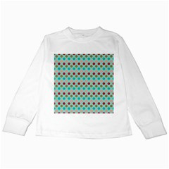 Large Circle Rainbow Dots Color Red Blue Pink Kids Long Sleeve T-Shirts