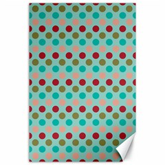 Large Circle Rainbow Dots Color Red Blue Pink Canvas 24  X 36