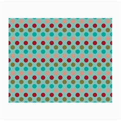 Large Circle Rainbow Dots Color Red Blue Pink Small Glasses Cloth (2-Side)