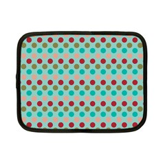 Large Circle Rainbow Dots Color Red Blue Pink Netbook Case (Small)