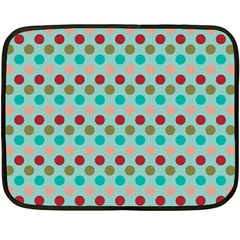 Large Circle Rainbow Dots Color Red Blue Pink Fleece Blanket (Mini)