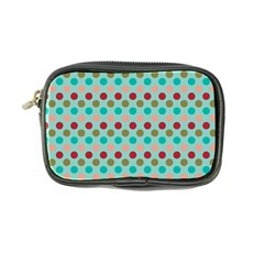 Large Circle Rainbow Dots Color Red Blue Pink Coin Purse