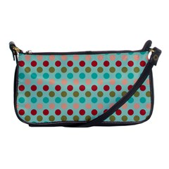 Large Circle Rainbow Dots Color Red Blue Pink Shoulder Clutch Bags