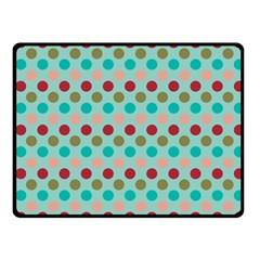 Large Circle Rainbow Dots Color Red Blue Pink Fleece Blanket (Small)