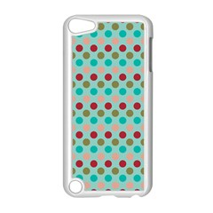 Large Circle Rainbow Dots Color Red Blue Pink Apple iPod Touch 5 Case (White)