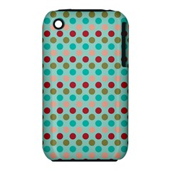 Large Circle Rainbow Dots Color Red Blue Pink iPhone 3S/3GS