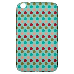 Large Circle Rainbow Dots Color Red Blue Pink Samsung Galaxy Tab 3 (8 ) T3100 Hardshell Case