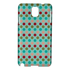 Large Circle Rainbow Dots Color Red Blue Pink Samsung Galaxy Note 3 N9005 Hardshell Case