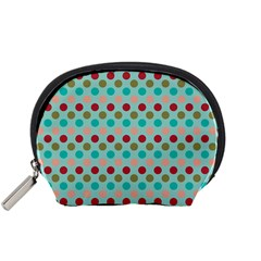 Large Circle Rainbow Dots Color Red Blue Pink Accessory Pouches (Small)