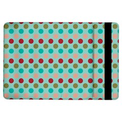 Large Circle Rainbow Dots Color Red Blue Pink iPad Air Flip