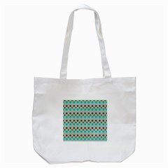 Large Circle Rainbow Dots Color Red Blue Pink Tote Bag (White)