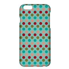 Large Circle Rainbow Dots Color Red Blue Pink Apple iPhone 6 Plus/6S Plus Hardshell Case