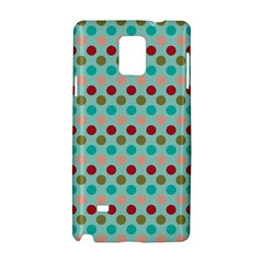 Large Circle Rainbow Dots Color Red Blue Pink Samsung Galaxy Note 4 Hardshell Case