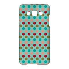 Large Circle Rainbow Dots Color Red Blue Pink Samsung Galaxy A5 Hardshell Case