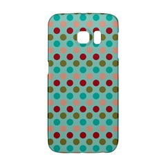 Large Circle Rainbow Dots Color Red Blue Pink Galaxy S6 Edge