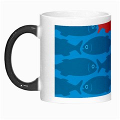 Fish Line Sea Beach Swim Red Blue Morph Mugs