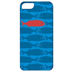 Fish Line Sea Beach Swim Red Blue Apple iPhone 5 Classic Hardshell Case