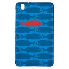 Fish Line Sea Beach Swim Red Blue Samsung Galaxy Tab Pro 8.4 Hardshell Case