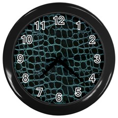 Fabric Fake Fashion Flexibility Grained Layer Leather Luxury Macro Material Natural Nature Quality R Wall Clocks (Black)