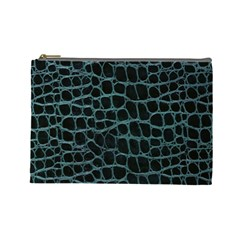 Fabric Fake Fashion Flexibility Grained Layer Leather Luxury Macro Material Natural Nature Quality R Cosmetic Bag (Large)
