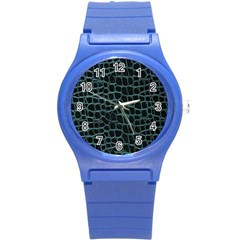 Fabric Fake Fashion Flexibility Grained Layer Leather Luxury Macro Material Natural Nature Quality R Round Plastic Sport Watch (S)