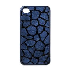 SKN1 BK-MRBL BL-STONE Apple iPhone 4 Case (Black)
