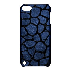 Skin1 Black Marble & Blue Stone Apple Ipod Touch 5 Hardshell Case With Stand