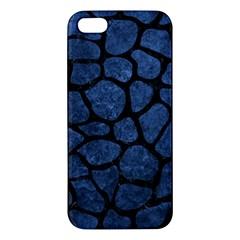 SKN1 BK-MRBL BL-STONE Apple iPhone 5 Premium Hardshell Case