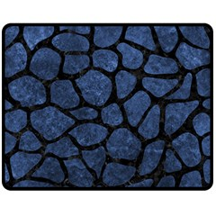 SKN1 BK-MRBL BL-STONE Double Sided Fleece Blanket (Medium)