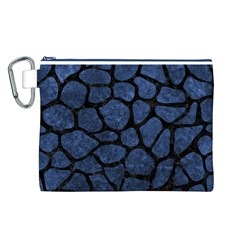 SKN1 BK-MRBL BL-STONE Canvas Cosmetic Bag (L)