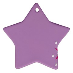 Purple Flagred White Star Star Ornament (Two Sides)