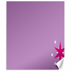Purple Flagred White Star Canvas 20  x 24